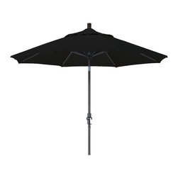 California Umbrella - 9 Foot Olefin Fabric Aluminum Crank Lift Collar Tilt Patio Umbrella, Black Pole - California Umbrella, Inc. has been producing high quality patio umbrellas and frames for over 50-years. The California Umbrella trademark is immediately recognized for its standard in engineering and innovation among all brands in the United States. As a leader in the industry, they strive to provide you with products and service that will satisfy even the most demanding consumers.