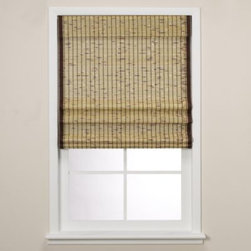 Real Simple - Real Simple  Natural Roman Shade - This beautiful shade is rich in character and made out of 100% bamboo. Its natural, woven wood combines clean lines with a textural interest. The woven edge banding gives the shade an added, customized quality.
