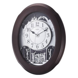 Rhythm - Nostalgia Espresso Magic Motion clock - Truly a Rhythm masterpiece!  The Nostalgia Espresso is a state-of-the art creation comprised of 30 melodies