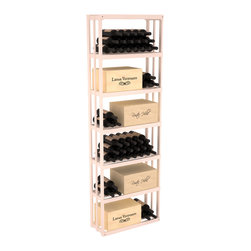 Wine Racks America - Rectangular Wine Storage Bin in Pine, White Wash - Highly versatile and flexible; this wooden wine storage is able to store wooden and cardboard cases or loose bottles. Finally a rack that allows display of jeroboams on their sides! Designed within our modular specifications, this rack is guaranteed to satisfy. Built to our exceptional quality standards, this storage unit is guaranteed to last.
