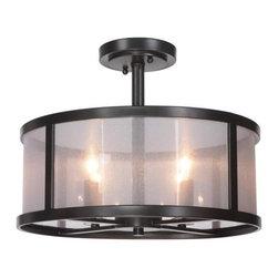 Jeremiah Lighting - Jeremiah Lighting 36754 Danbury 4 Light Semi-Flush Ceiling Fixture - Features: