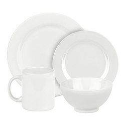 Waechtersbach - Fun Factory II Place Setting, White, 16 Piece - With our well-known Fun Factory collection you get fun and joy into your home. We offer high-quality dishes for every occasion. Whether you prefer a quick breakfast or an extensive dinner; with our collection you can always find the right shape. Whether green or blue; black or white our wide range of colors offer something for everyone.