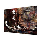 "READY2HANGART.COM - Ready2hangart Alexis Bueno Iconic 'Jerry Garcia' Acrylic Wall Art - Artist Alexis Bueno, takes you on a journey with this unique retrospective of the stars that affected Pop Culture through the past centuries with his series Iconic Art . This abstract rendition in acrylic art is offered as part of a limited ""Home Decor"" line, being the perfect addition to any contemporary space."