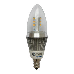 OMAILighting - LED Candelabra Bulb Brightest Dimmable 60W Replacement E12 Base Warm White 4pcs - Feature: