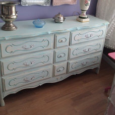 Eclectic Dressers Chests And Bedroom Armoires by Donna Thomas Vintage Chic Furniture
