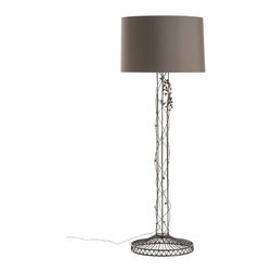 Arteriors - Mariposa Floor Lamp - The poetic qualities of this lyrical floor lamp were inspired by a well-timed drive through Mexico�s Michoac�n region during the breathtaking butterfly season. Takes one 150 watt three-way bulb.
