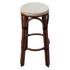 Paris Bistro Barstool - Ivory and Black - Bed Bath & Beyond