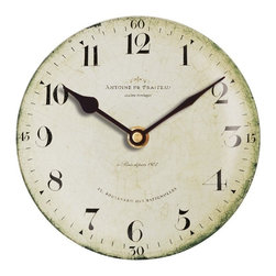 Floating Circus - Antoine Praiteau Clock - This charming  vintage wall clock has a French theme,