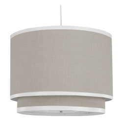 Oilo Pendant Lighting Solid Taupe Cylinder Double - Chandeliers aren't just for grownups. This streamlined version would look fabulous in the nursery.
