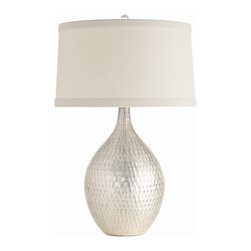 Arteriors - Walter Lamp - This curvy, rippled mercury glass lamp shimmers like a mermaid's tail in the moonlight. Whether it's turned on for full radiance or just picking up ambient light in the room, it will give your space an aura of enchantment.