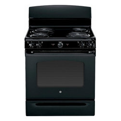 "GE - JBS45DFBB 30"" 5.0 cu. ft. Oven Capacity Free-Standing Electric Range  Upfront Co - A GE electric range will meet all your cooking needs for years to come from warming a simple pan of soup for one person to handling a large dinner party or holiday meal for the whole family Plus your stove will look great in your kitchen and clean up..."