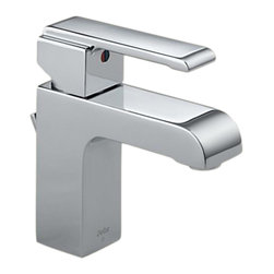 Delta - Delta 586LF-MPU Arzo Single Handle Centerset Lavatory Faucet (Chrome) - Delta 586LF-MPU Arzo Collection has a bold angular shape and for a comtemporary addition to your home. The Delta 586LF-MPU is a one handle Lavatory Faucet in Chrome.