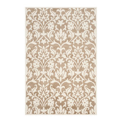 Safavieh - Saleem Indoor-Outdoor Rug, Wheat/Beige - Construction Method: Power Loomed. Country of Origin: Turkey. Care Instructions: Easy To Clean. Just Rinse With A Garden Hose. Coordinate indoor and outdoor living spaces with fashion-right Amherst all-weather rugs by Safavieh. Power loomed of long-wearing polypropylene, beautiful cut pile Amherst rugs stand up to tough outdoor conditions with the aesthetics of indoor rugs.