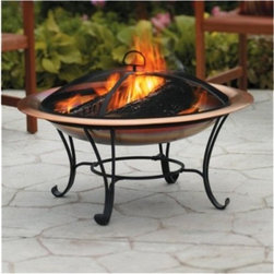 Smith & Hawken 33-Inch Copper Fire Bowl - When the sun disappears and the temperature drops, fire up the fire pit to keep warm and to make s'mores.