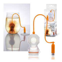 Fred & Friends - Fred & Friends Deep Tea Diver Infuser - This is a FRED deep tea diver infuser. Kickstart your morning by dropping this adorable tea infuser into your cup for a brew that will make you smile.