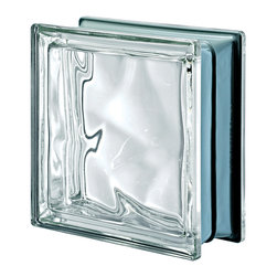 Seves Glass Block - Pegasus Metalized Wavy Glass Block, Neutro (Clear) - Ideal for striking interiors and exteriors, Pegasus Metalized is available in smooth and wavy designs with a rich variety of colors. The combination of two exclusive Seves technologies, including actual metalization, gives Pegasus Metalized block its special brightness, lightness and luminosity.