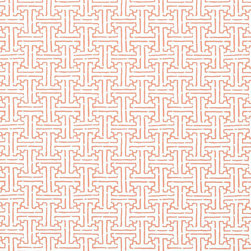 Thibaut - Mod Weave Wallpaper, Coral - Construction Wallpaper