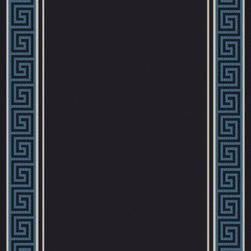 "Dynamic Rugs - Dynamic Rugs Piazza 0720-6G38 (Black, Blue) 7'10"" x 10'10"" Rug - The Piazza collection is the answer to the new trend in outdoor home decor. These rugs offer a range of styles in rugs woven completely of synthetic, high resistance yarns for real outdoor use. These rugs represent the solution to your outdoor home decor. They are suitable not only for your sunroom, but can also be used for decorating the entry to your home or accessorizing any outdoor seating area or outdoor patio dining area. Dynamic Rugs assures its customers these are the true quality needed for real outdoor use."
