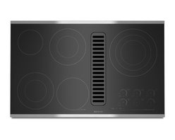 "Jenn-Air 36"" Electric Radiant Downdraft Cooktop, Stainless/blk 