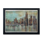 Uttermost - Misty Day In Manhattan Framed Art - The sky's the limit! There is nothing like an amazing skyline and New York certainly has that. This beautiful oil has a hand-applied dabb finish lending depth and interest. Any room in your home would be proud to host such a remarkable skyline.