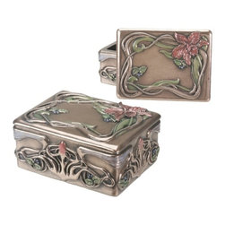 Summit - Art Nouveau Orchid Box Holder Display Decoration - This gorgeous Art Nouveau Orchid Box Holder Display Decoration has the finest details and highest quality you will find anywhere! Art Nouveau Orchid Box Holder Display Decoration is truly remarkable.