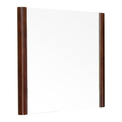 "Bellaterra Home - 25.6 Inch Mirror-Wood-Walnut - Simple wood frame mirror, finished with rich walnut finish, sealed with 7 layers of protective sealant to ensure water proof surface. The mirror a high quality 0.6"" thick mirror prevent rusting against bathroom, and it comes with all mounting hardware."