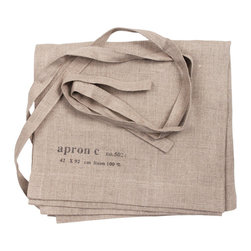 Linen Cafe Apron - Simple and gorgeous - the texture of the material is what these aprons are all about.