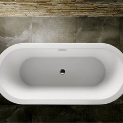 VIRTU - Virtu USA Freestanding Soaking Tub - The Serenity Collection soaking tubs introduces a peaceful tranquility in modern design. Where elegance meets ergonomics,the Serenity Collection is visually mesmerizing and comfortable.