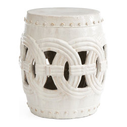 Interlocking Rings Stool, White - Because the mudroom should have something useful and elegant. When you sit on this little number, you'll have more than one reason to be glad you ran inside before the big rainstorm hit.