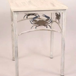 Accent Tables - Crab Design Wrought Iron Accent Table