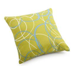 ZUO VIVA - Bunny Small Pillow Olive Green base with pattern - Bunny Small Pillow Olive Green base with pattern