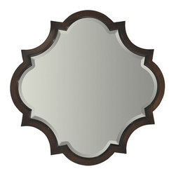 Milling Road Mirror - I love the unique shape of this mirror. Over a mantel or in a powder room, beautiful.