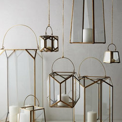 Geo Glow Lantern - Light makes the mood in a room, and these lanterns are perfect for bringing the bohemian, hipster mood into your home.