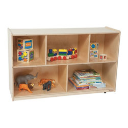 Wood Designs - Wood Designs 30H in. Single Storage - Natural Multicolor - WD13000 - Shop for Childrens Toy Boxes and Storage from Hayneedle.com! About WDM Inc.For 30 years Wood Designs has put passion for the enrichment and safety of children into quality wooden early learning furniture. Dennis and Debbie Gosney the couple behind this labor of love have taken their 50 years combined experience in child development furniture manufacturing and built a company at the forefront of innovation and safety. Intuitive design coupled with novel safety features like Pinch-me-not hinges and Tip resistant furniture set Wood Designs apart from the typical early learning furniture manufacturers.