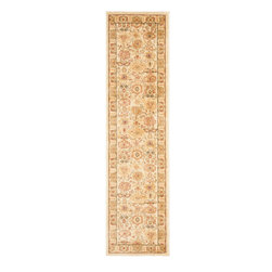 Safavieh - Safavieh Heirloom Hlm1741-1152 Cream / Green Area Rug - Using style and sophistication without becoming too formal, Safavieh Heirloom rugs create a sense of welcome wherever they are placed. Perfect at bringing a sense of elegance to your home, Heirloom rugs use ornate floral designs featuring vines and latticework. Machine made from polypropylene, the Heirloom rug collection retains the high quality of traditional Persian and European rugs while being easier to care for and highly durable.