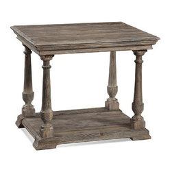 Basett Mirror - Pemberton Rectangular End - The Pemberton Rectangular End Table (Barnside Finish) has the following features: