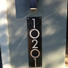 Modern House Numbers by Modern Address Design