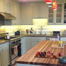 Modern Kitchen Countertops by Windfall Lumber