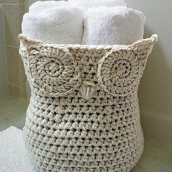 Owl Basket Kit - I'm pretty sure I need to learn how to crochet so that I can make a big owl basket.