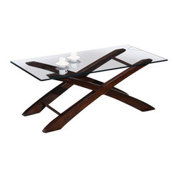 Chelsea Home Furniture - Chelsea Home 3-Piece Coffee Table Set with Glass Top and Wood Frame - 3 Piece Coffee Table Set with Glass Top and Wood Frame belongs to Verona IV collection by Chelsea Home Furniture