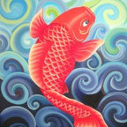 """Coy (Koi)"" (Original) By Jamie Lynn Moore - This Painting Captures The Simple Beauty And Elegance Of One Of Nature'S Most Reproduced Marine Creatures In Contemporary Art, The Coy Fish. Often Seen As A Symbol Of Aspiration And Advancement, This Painting Expresses Strength Through Perseverance In Adversity And The Determination To Overcome Obstacles. It Represents Achieving One'S Goals And Moving Forward Regardless Of One'S Circumstances. Your Past Does Not Decide Your Future, It Merely Determines Where You Start. - Anonymous"