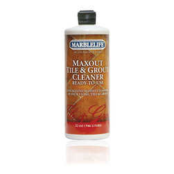 MARBLELIFE - MARBLELIFE MaxOut Grout Cleaner 32oz - MaxOut Deep Grout Cleaner is a specifically designed formulation that emulsifies grease and dirt from your grout. It will not harm ceramic, porcelain, Saltillo, Terracotta or stone tile. This well established technology, using emulsifiers, works quickly on grease and dirt allowing for faster cleaning of grout, resulting in less time on the job. When used correctly, MaxOut Concentrate removes stubborn surface grime with simple agitation.