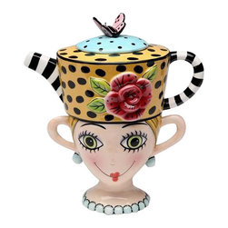 ATD - Tea For One Multicolored Polka Dot Tea Pot with Blond Girl Cup Set - This gorgeous Tea For One Multicolored Polka Dot Tea Pot with Blond Girl Cup Set has the finest details and highest quality you will find anywhere! Tea For One Multicolored Polka Dot Tea Pot with Blond Girl Cup Set is truly remarkable.
