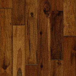"Hardwood Flooring - Shamrock Americican Woodlands 5"" Solid Medium Brown Hickory Hand Scraped"