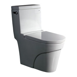 "Atlas International Inc - Toilet - Ariel Platinum Contemporary One Piece ""Oceanus"" (White) - Modern Eco-Friendly One Piece White toilet. Ariel cutting-edge designed one-piece toilets with powerful flushing system. It's a beautiful, modern toilet for your contemporary bathroom remodel."