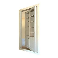 Customer 3 In-Swing Open Hidden Door - Who doesn't want a hidden door in their house? You know ...