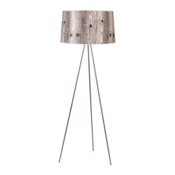 Lights Up! - Weegee Floor Lamp, Faux Bois Light - A modern floor lamp can serve as a chic addition to your living room, home office or bedroom. This floor lamps offers a variety of sophisticated colors and patterns for your ideal look. The 24-inch shade will give you just the right amount of light for reading, entertaining or simply relaxing in style.