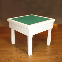 Lego Table with Storage and Removable Lego Top by Silver Holly - Here is a white and simply pretty Lego storage table.