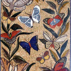 Mosaic mural 100% handcrafted - We can produce any desing any size. Contact us with you project.