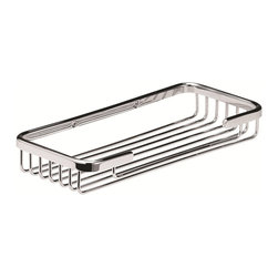 Hudson Reed - Hudson Reed Large Soap Basket - This Useful Bathroom Accessory is a Large Soap Basket in a Modern Design Attractively Finished in Chrome. Approximate Dimensions   Height: 1.2 (30mm) Width: 9.2 (233mm) Depth: 4.25 (108mm)   Material: Brass with rust-proof chrome plating